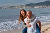 Fun at the beach. Couple Photoshoot at the beach. Palma de Mallorca