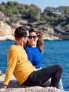 You make me smile. Couple Photoshoot at the beach. Portal Vells, Calvia, Mallorca