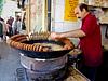 Making felafel in Hama.