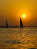 Feluccas on the Nile.