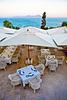 Seaside dining in Sidi Bou Said. Tunis.
