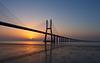 Vasco de Gama bridge sunrise
