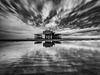 West pier black & white