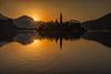 Day break on Lake Bled