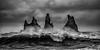 Big waves at Reynisdrangar