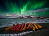 Canoedling under the Northern Lights