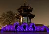 Pagoda Light painting in Battersea Park
