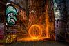 Southbank graffiti fire sphere