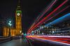 Westminster light trails