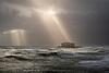 Storm Francis spotlights the West Pier in Brighton