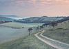 The road to Mount Caburn