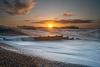 Brighton beach sunrise