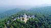 Wide landscape view of Parashnath Temple