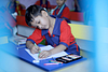 small kid studying