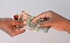 Paying Indian rupee