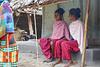 Two village girl sitting