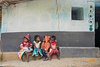 Group of small kid in a village