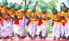 Group of people doing jhumar dance