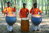 Group of woman playing drum