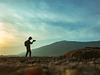 Photographer capturing landscape