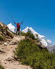 First glimpse of Bhagirathi Peaks