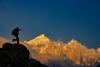 Alpenglow on Bhagirathi Peaks