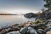 Twilight over lake Väsman