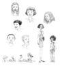 "Cartoon Studies for ""MY BODY, MYSELF"""