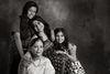 Swati Bhattacharya with her Mom, Mamta and daughters, Ananya and Noyona.