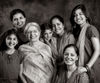 Harloena Srivastava with her Mom, Dasreeta Singh, and sisters Harsohena Kaur and Tripta Singh. And daughters, Nayan Srivastava, Jaitsiri Kaur and Kyrah Deo.