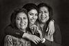 Pammi Hastu with her daughter, Kaisha and sister, Ritu Maraj.