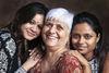 Praveen Langham with her daughters, Rhea Roshni and Tara Tehmina.