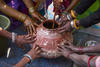 he organic 5-leaves mix is made in an earthen pot and before it is sealed for fermenting, all the women place their hands on the pot as a way of blessing the contents. In most rural Indian practices religious and spiritual beliefs mingle with everyday activities quite seamlessly.  Quite a few of them also realise and say that going organic is like returning to their roots as this was the way farming was done a  couple of generations ago.