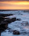Spectacular sunset at Doolin Pier, County Clare, Ireland