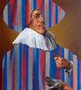 Dutch Portrait with Stripes