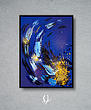 Under Water .       50€           30cm * 40cm  Acrylic on paper (Pittura 400g) Frames not included