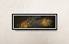 Gold and Black .     100€          25cm * 70cm Acrylic on paper (Pittura 400g) Sold without frames or with frames (+50€)