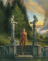 """The Fourth Entrance Freya's Grove, 24"""" x 30"""", oil on canvas"""