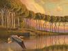"""Island Shrine, 18"""" x 24"""", oil on wood panel"""