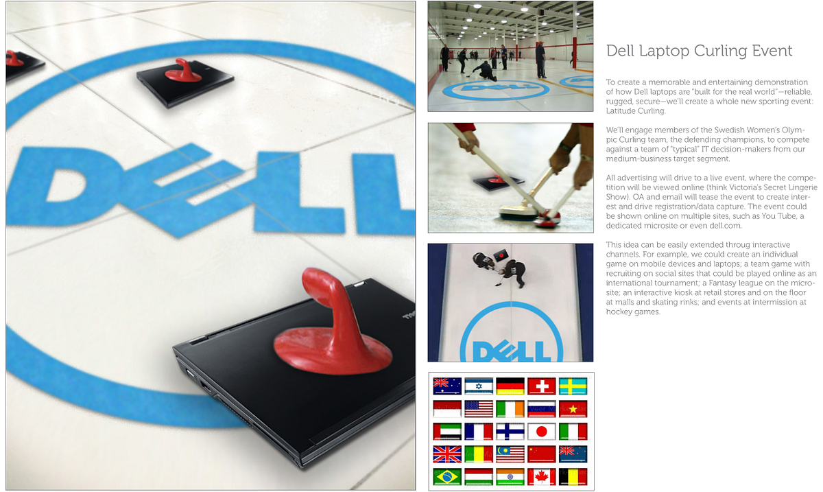 Dell Latitude Curling Promotional Concept