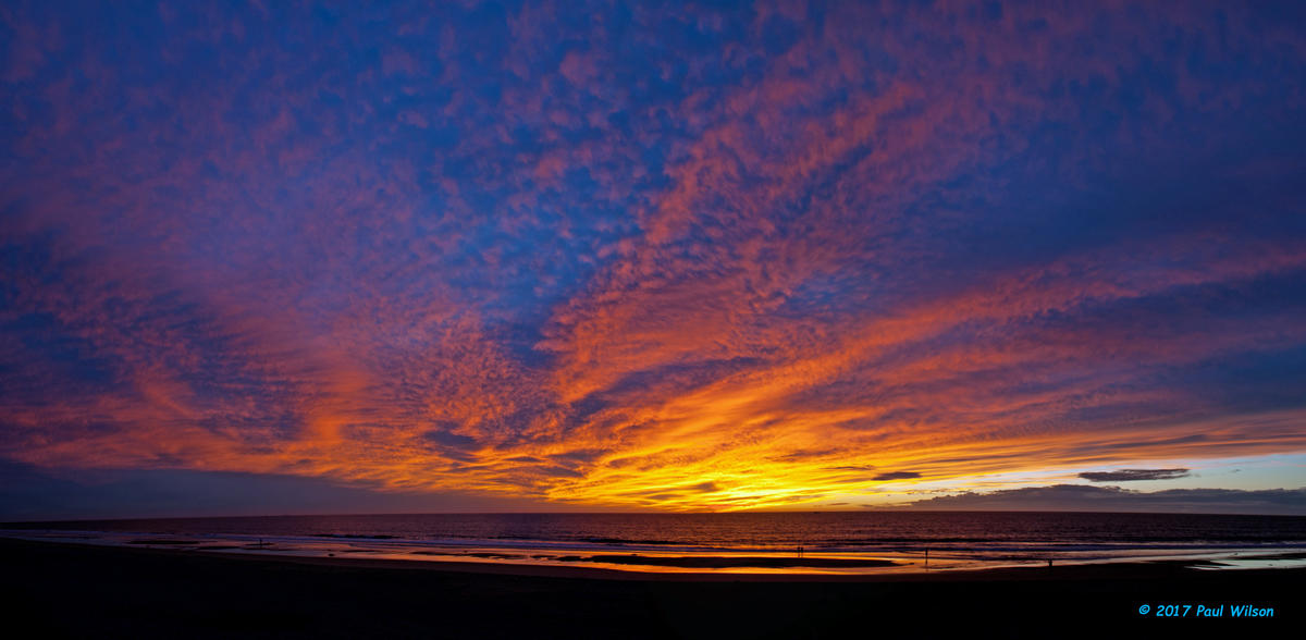 Flaming Fall Sunset
