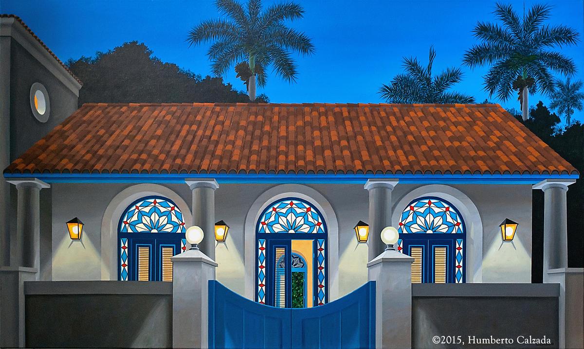 """Azul (Blue), Acrylic on Canvas, 36"""" x 60"""" 2015"""