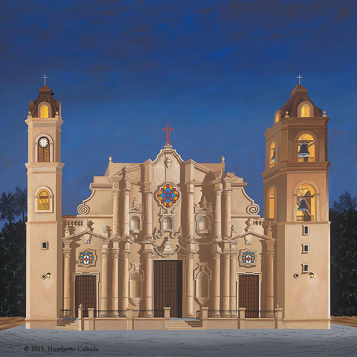 Catedral de La Habana (Havana Cathedral) Acrylic on Canvas, 1m x 1m, 2015