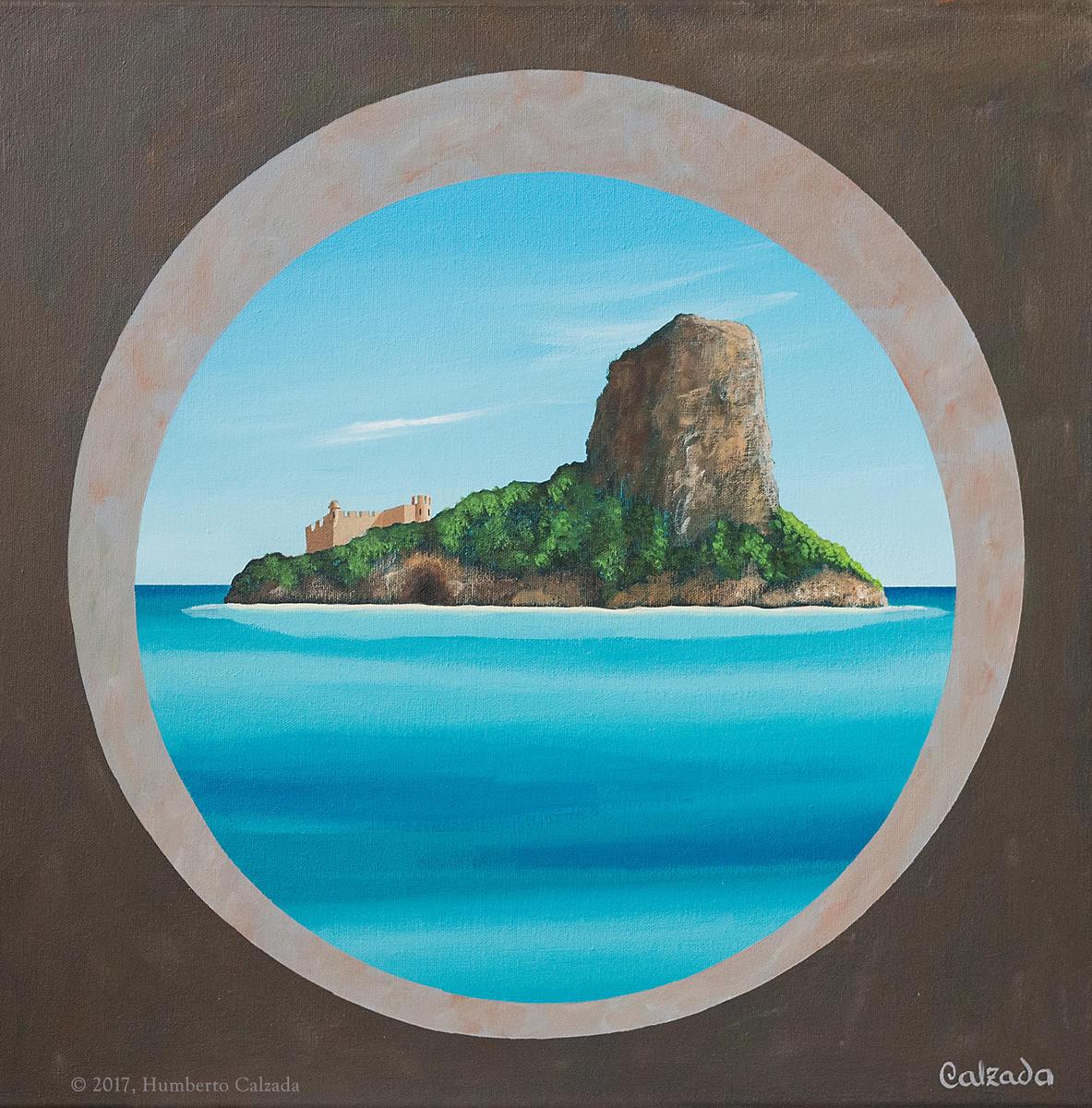 "El Fortin de la Islita (The Small Fort on the Island), Acrylic on Canvas, 20"" x 20""  2017"