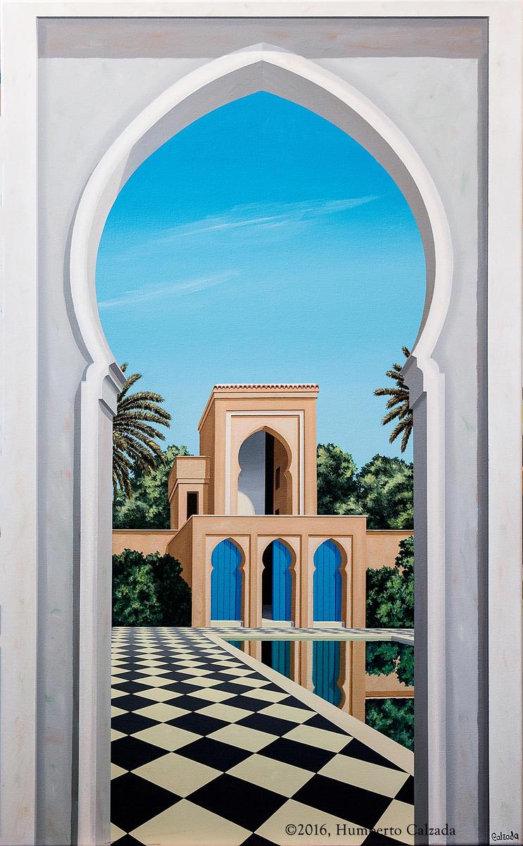 """En Marruecos (In Morocco) Acrylic on Canvas, 48"""" x 30""""  2016"""