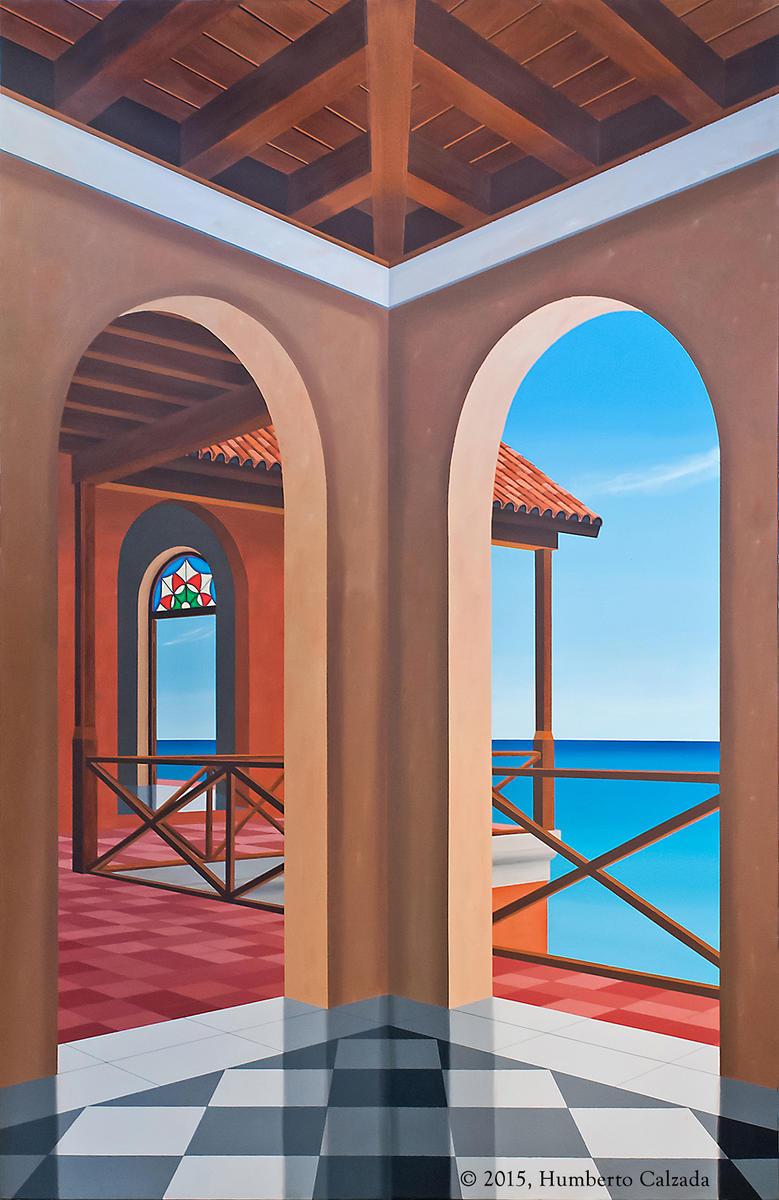 "La Disyuntiva (The Quandary), Acrylic on Canvas, 75"" x 48""  2015"