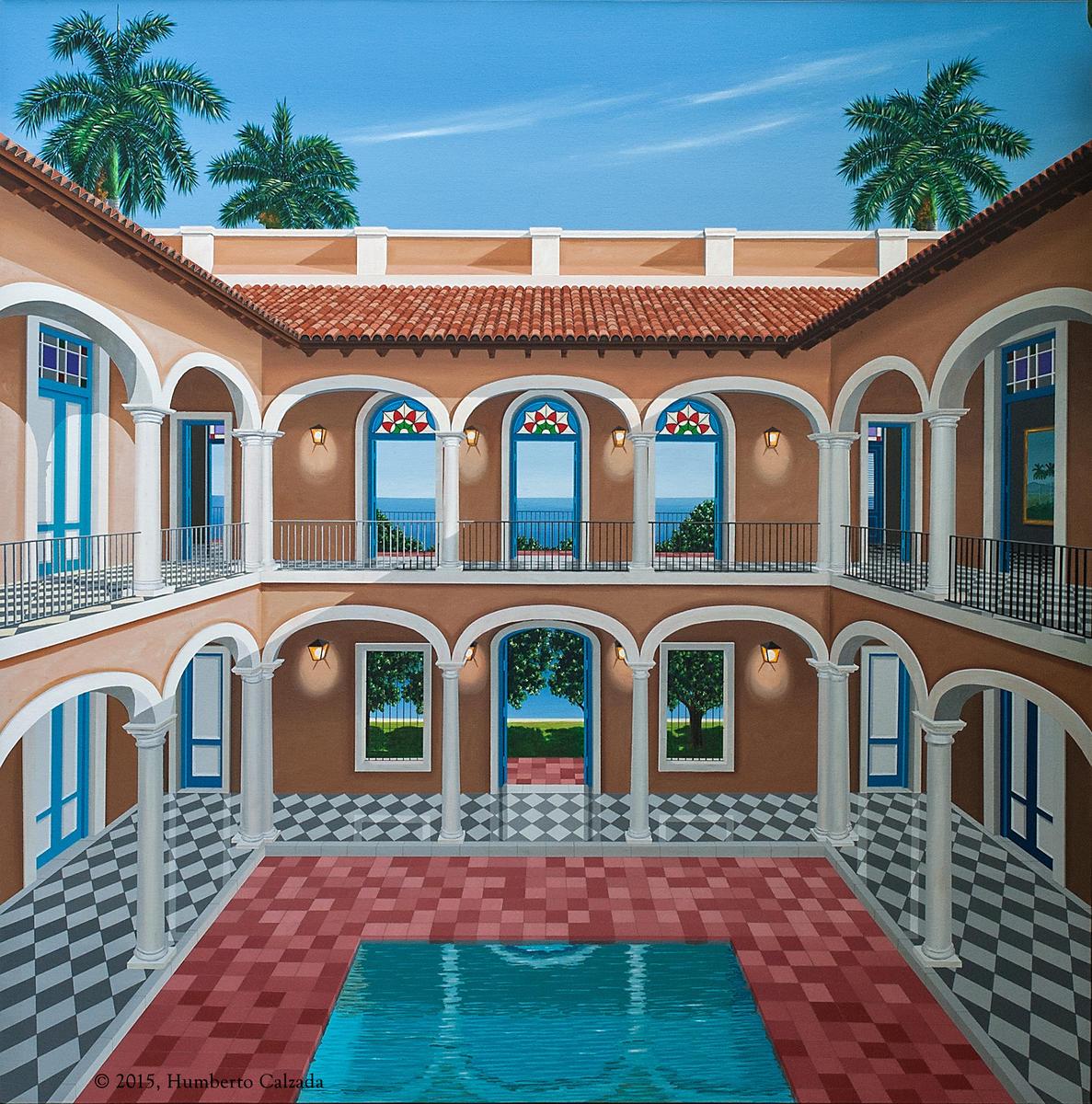 """La Fuerza de Una Leyenda (The Strength of a Legend) Acrylic on Canvas, 60"""" x 60""""  2015"""