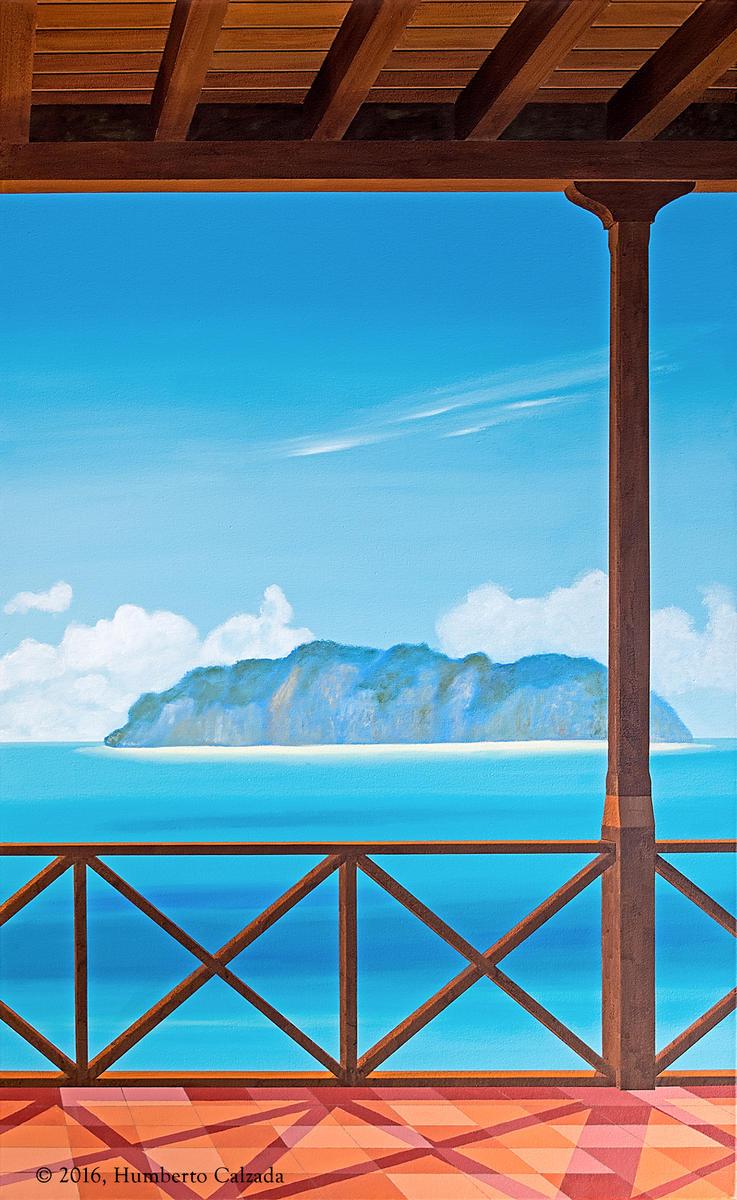 "Meditacion Frente Al Mar (Meditation Before the Sea) Acrylic on Canvas, 60"" x 36""  2016"