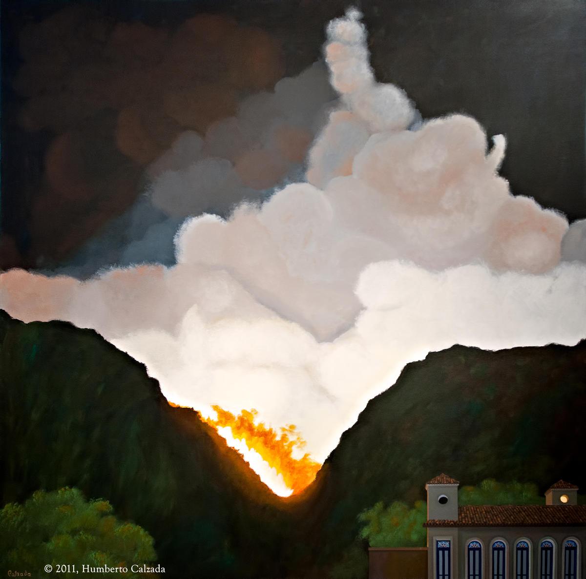 """Oblivion, Acrylic on Canvas, 60"""" x 60"""", 2011"""