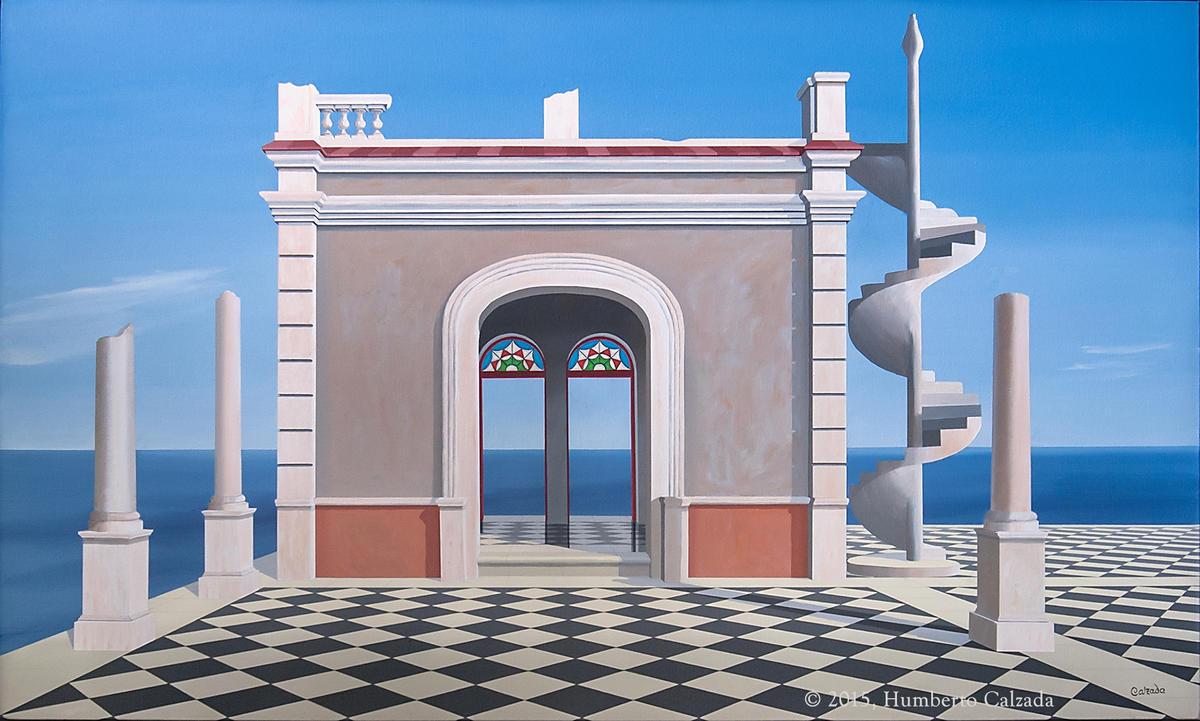 """Paraíso y Refugio de un Filósofo (Paradise and Refuge of a Philosopher) Acrylic on Canvas, 60"""" x 30""""  2015"""